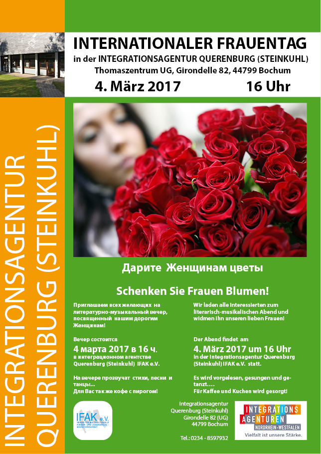 IFAK e.V. Internationaler Frauentag 2017
